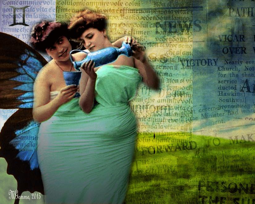 Gémeaux, art numérique par MGemme, 2015