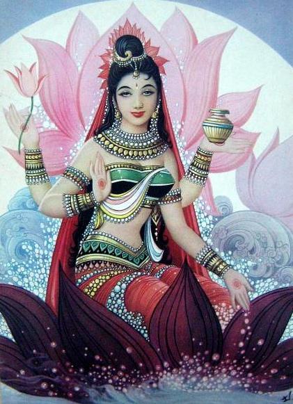 Lakshmi déesse de la fortune et de l'abondance aide à développer sa richesse intérieure.