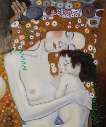 Mère à l'enfant, peinture de Gustave Klimt